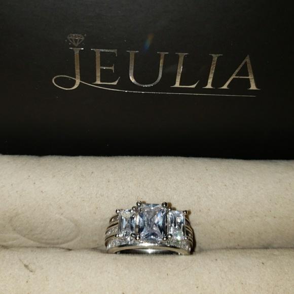 78bd4f330952cc Jeulia Jewelry | White Sapphirecz Wedding Set | Poshmark